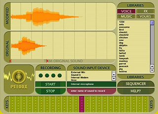 Main interface of the audio toy