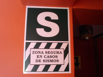 Safe zone in case of earthquake
