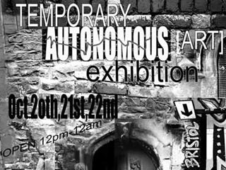 Detail of the Temporary Autonomous Art exhibition poster